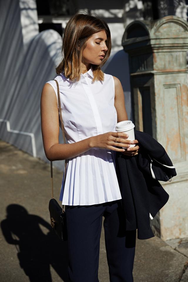 Karen Millen The Pleated Hem Shirt