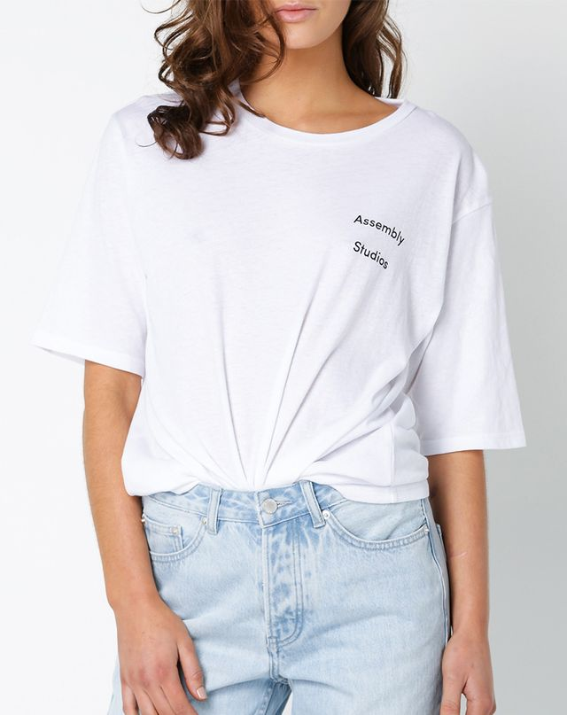 Assembly Label Balance T-Shirt in White