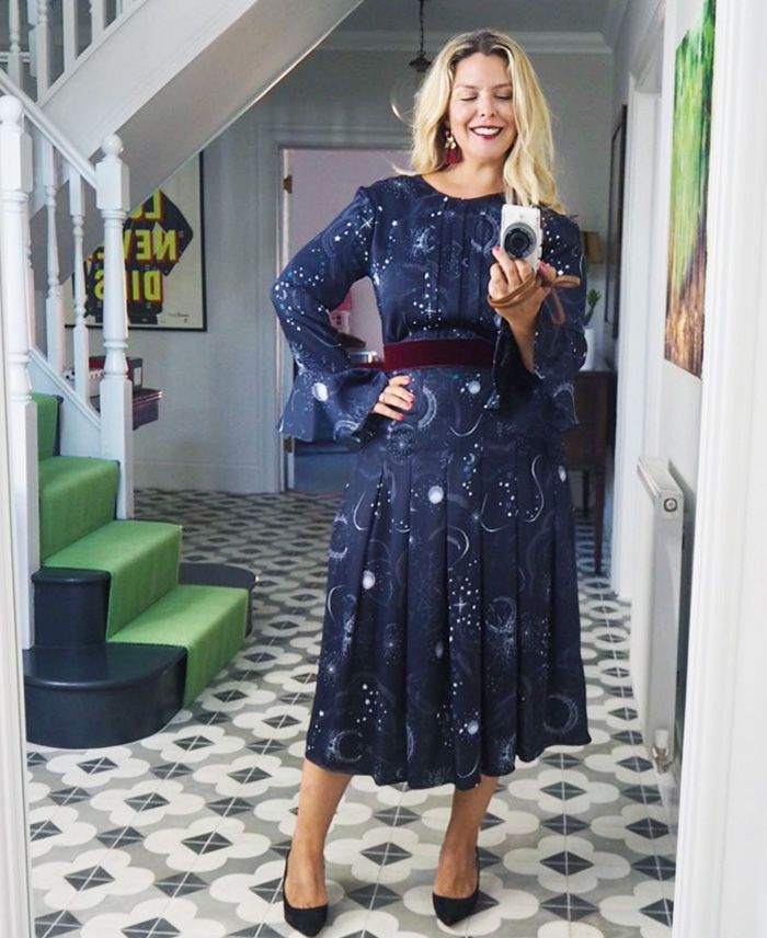 afa8edd78f8d0 SHOP THE M S DRESS. Pinterest · Shop · M S Constellation Print Long Sleeve  Midi ...
