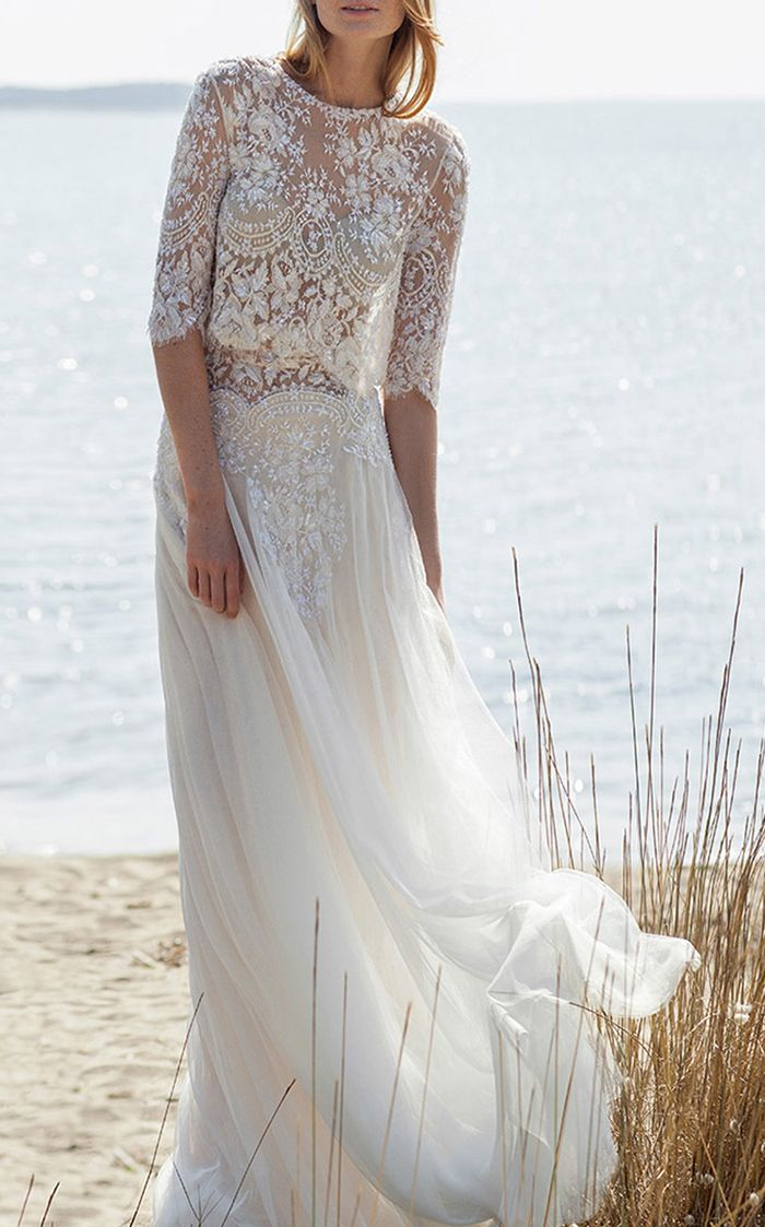 the most stunning see through wedding dresses who what wear