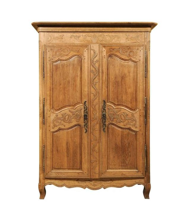 19th Century Carved Oak Armoire From Normandy