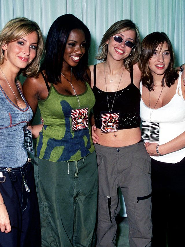 90s fashion: All Saints wearing combat trousers
