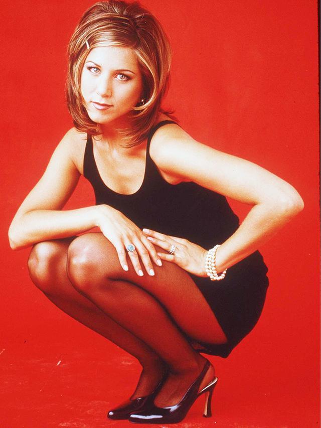 90s fashion: Jennifer Aniston wearing a little black dress