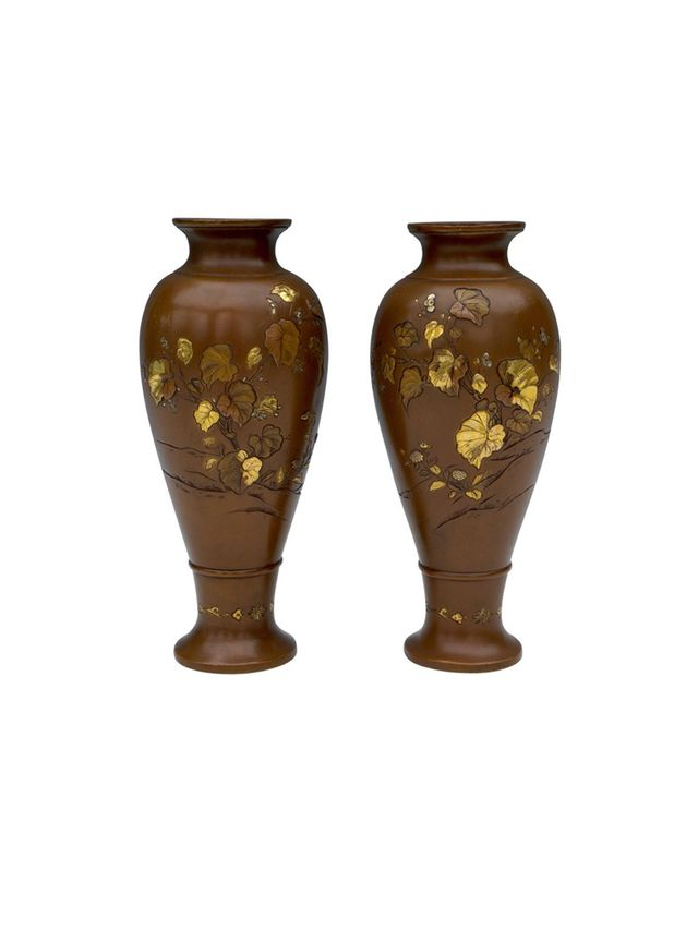 Vintage Japanese Bronze Vases