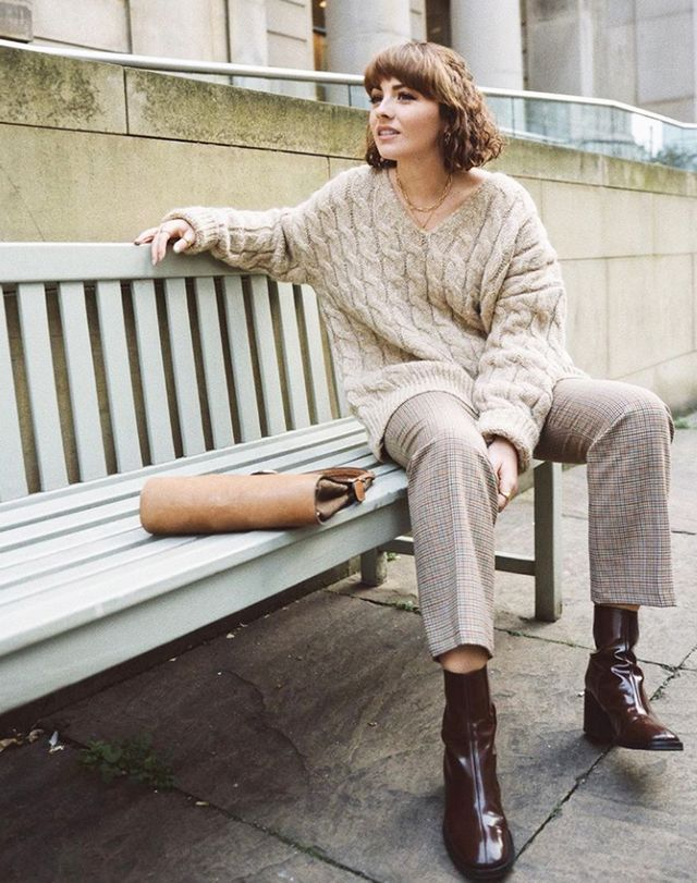 Influencers wearing high street: & other Stories cable-knit sweater