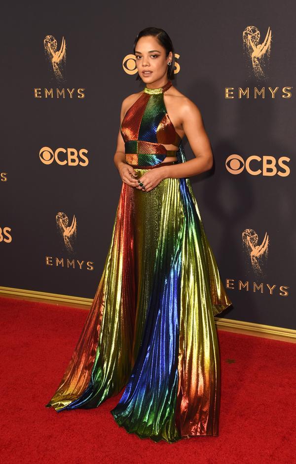 Tessa Thompson Emmy Awards 2017 Red Carpet Celebrity Looks