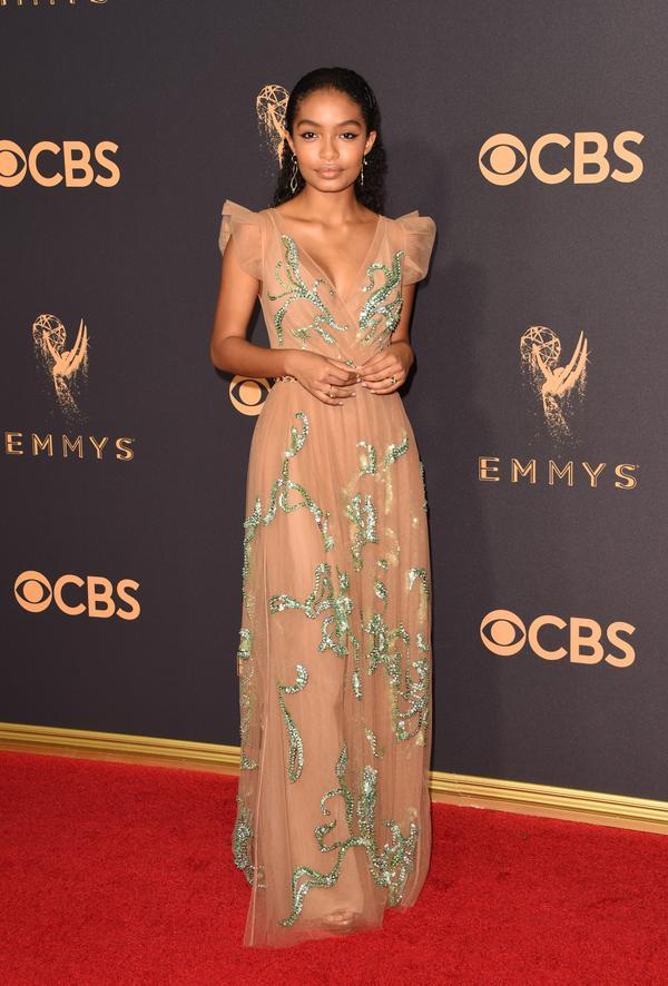 Yara Shahidi Emmy Awards 2017 Red Carpet Celebrity Looks