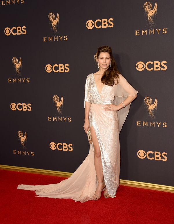 Jessica Biel Emmy Awards 2017 Red Carpet Celebrity Looks