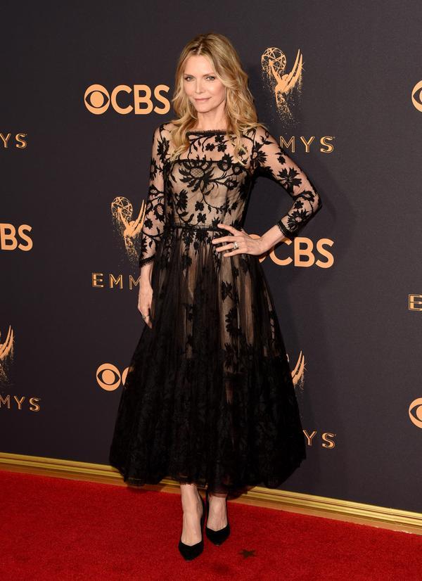 Michelle Pfeiffer Emmy Awards 2017 Red Carpet Celebrity Looks