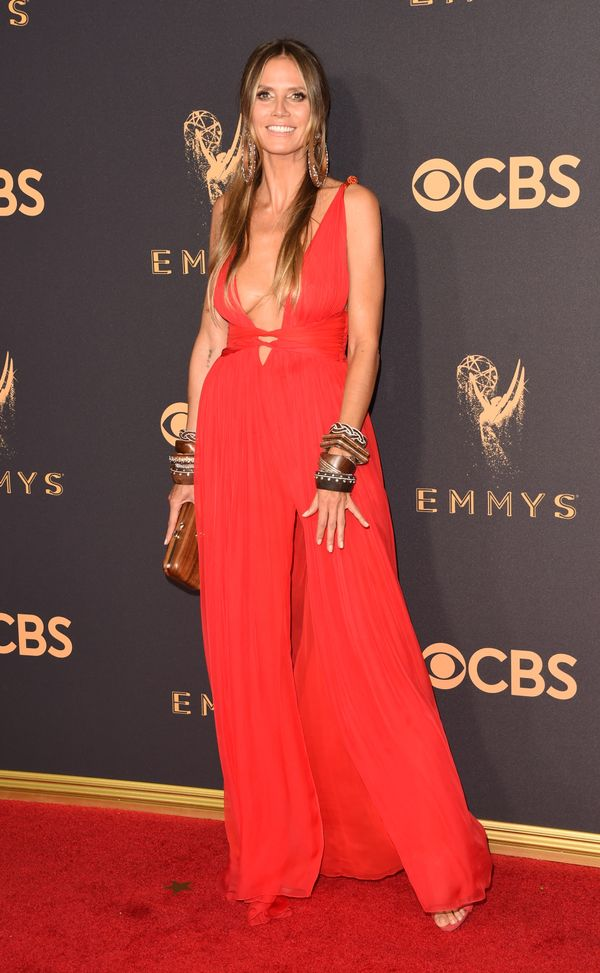 Heidi Klum Emmy Awards 2017 Red Carpet Celebrity Looks