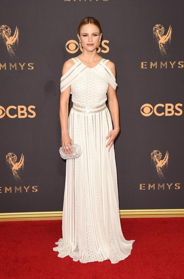 Halston Sage Emmy Awards 2017 Red Carpet Celebrity Looks