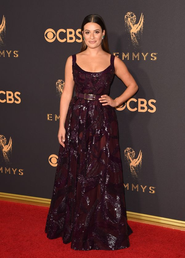 Lea Michele Emmy Awards 2017 Red Carpet Celebrity Looks