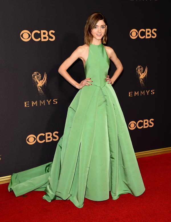 Natalia Dyer Emmy Awards 2017 Red Carpet Celebrity Looks
