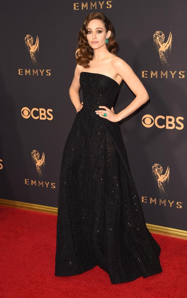Emmy Rossum Emmy Awards 2017 Red Carpet Celebrity Looks