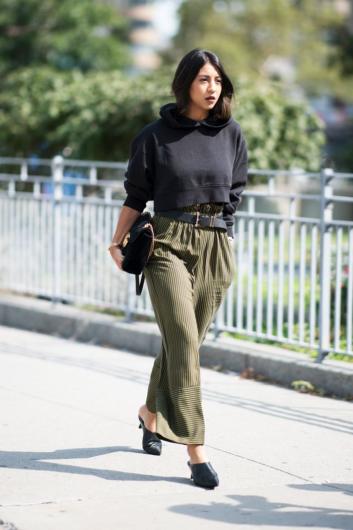 454bf6035 How to Wear a Sweatshirt the Fashion-Girl Way | Who What Wear