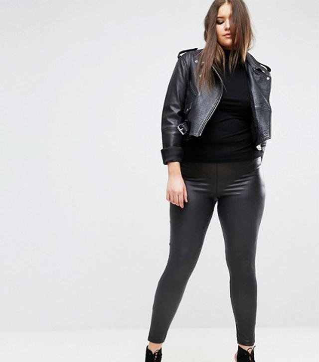 ASOS CURVE Leather Look Legging