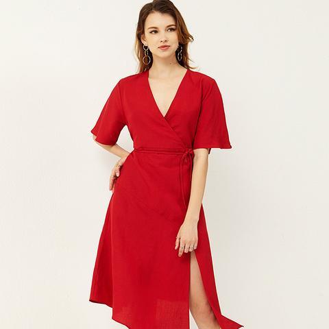Emily Slit Kimono Dress
