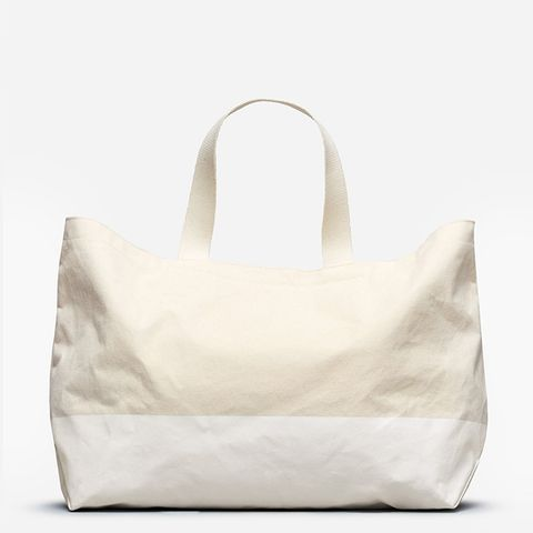Beach Canvas Tote Bag by Everlane in Natural/White