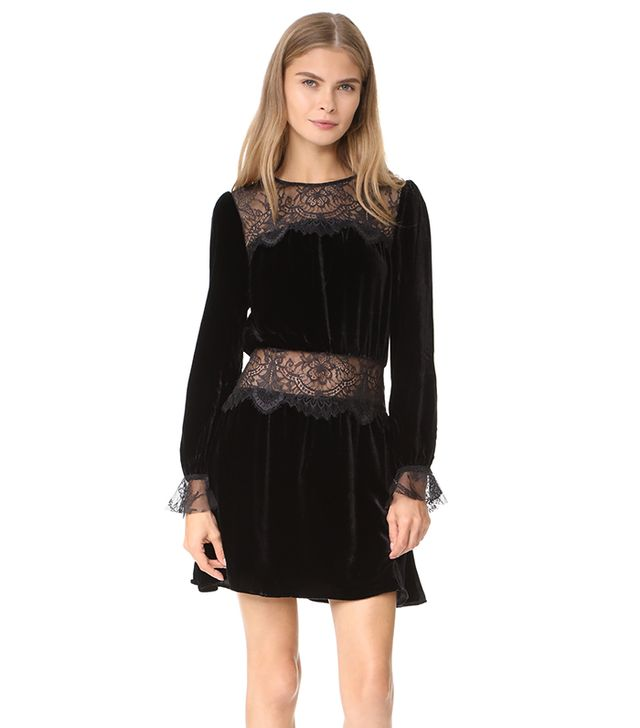 Beatrix Velvet Lace Dress