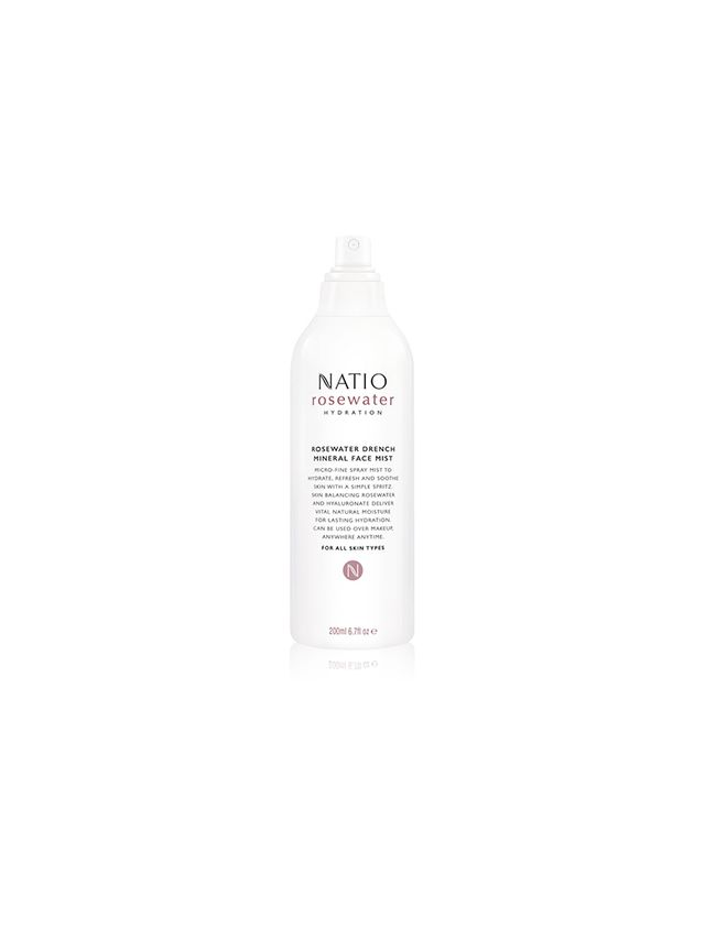 Natio Rosewater Hydration Moisture Drench Mineral Face Mist