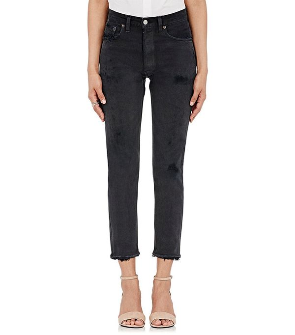 Women's Black High Rise Crop Jeans