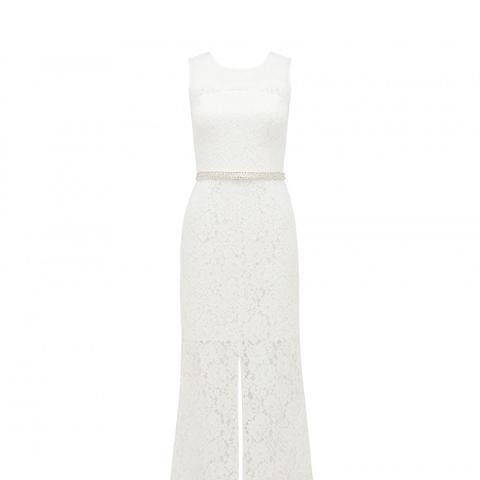 Juliet Lace Spliced Midi Dress