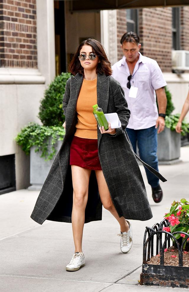 Selena Gomez new york street style