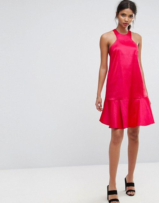 Studio Dress With Fluted Hem