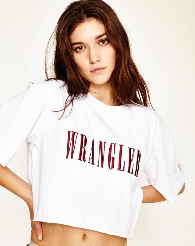 Wrangler Campbell Cropped T-Shirt White