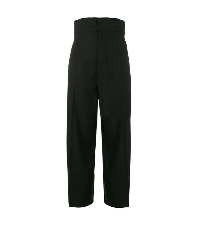 Cropped High Waisted Trousers