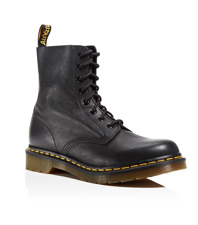 Pascal Leather Combat Booties