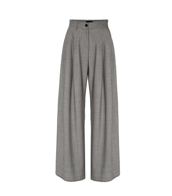 Inez Pleated Wool Pant