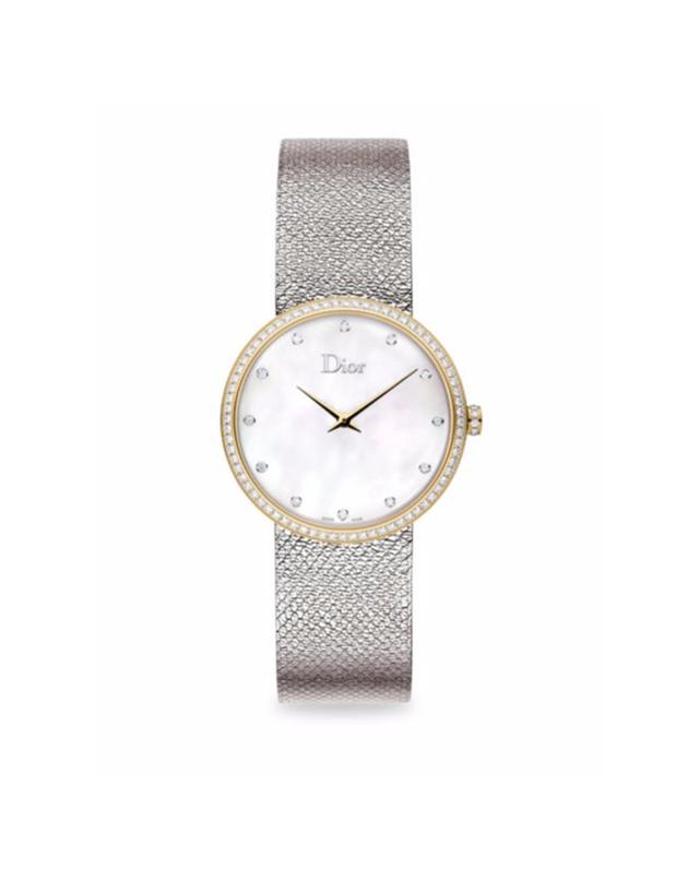 Dior La D de Dior Diamond, Mother-Of-Pearl & Stainless Steel Watch