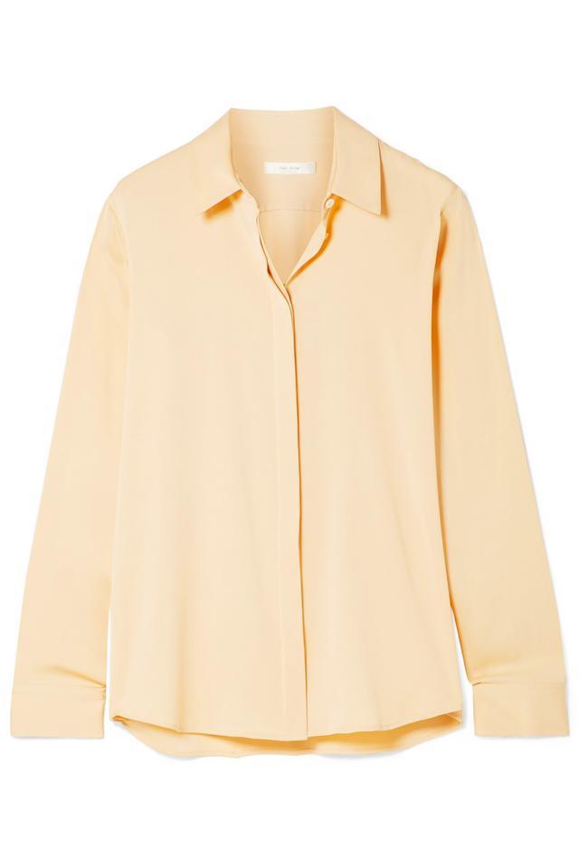 Petah Silk-blend Crepe De Chine Shirt