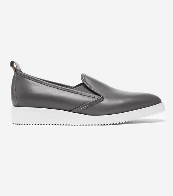 Women's Leather Slip-on Shoes by Everlane in Denim/Navy, Size 5.5