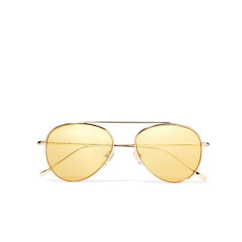 Dorchester Aviator-Style Gold-Tone Sunglasses