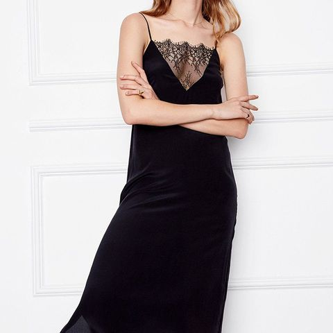 Deep V Lace Slip Dress