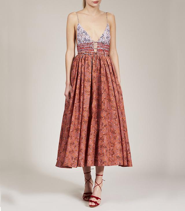 Eliette Leni Dress in Rust