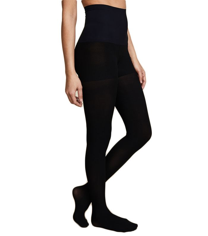 How To Wear Black Tights With All Your Dresses Who What Wear