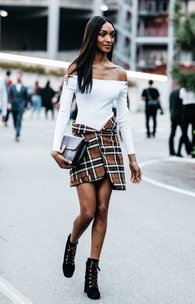 8 Plaid Skirt Outfits To Try This Fall Who What Wear