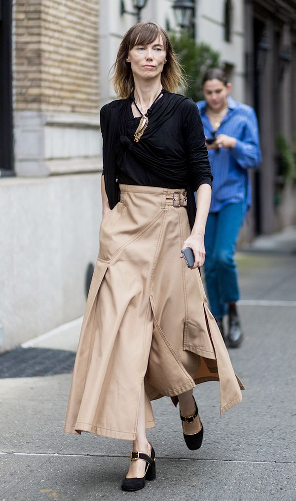 black and camel street style outfit