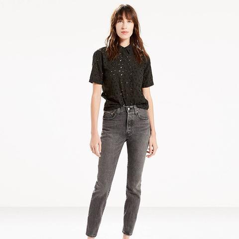 501 Skinny Jeans in Black Coast