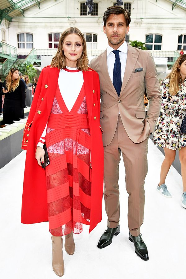 Olivia Palermo red Valentino dress