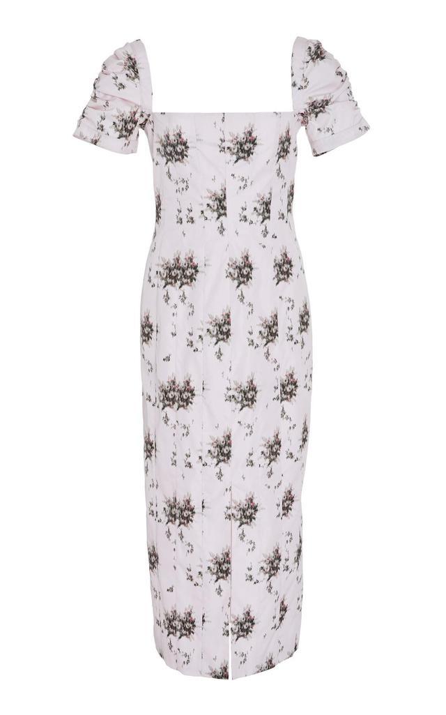 M'O Exclusive Odilia Floral Poplin Midi Dress