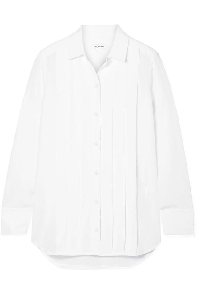 Jack Pleated Washed-silk Shirt