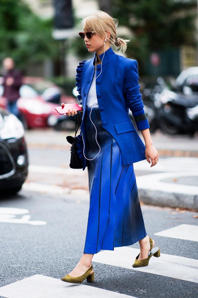 Margaret Zhang in Cobalt Blue