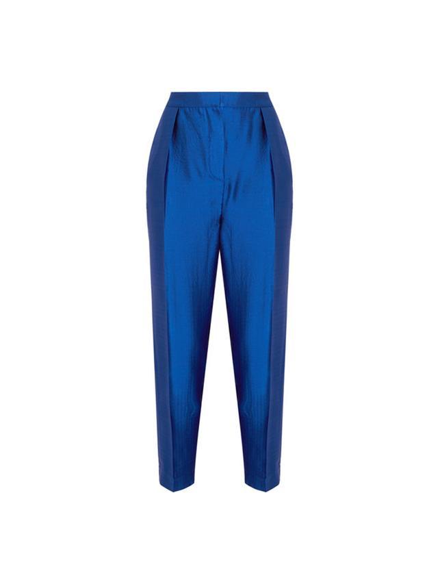 Roksanda Wool-Blend Lamé Tapered Pants