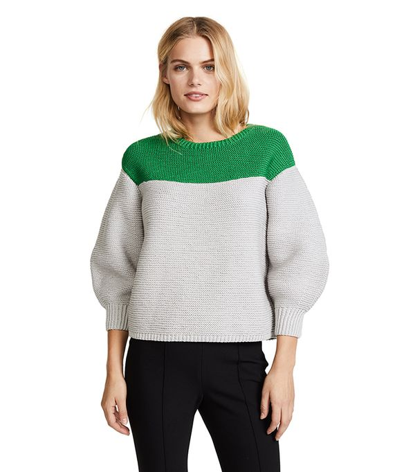 Mercerized Colorblocked Sweater