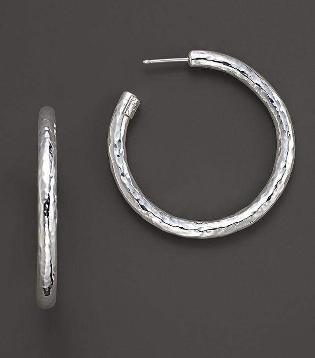 Sterling Silver Skinny Electroform Hoop Earrings