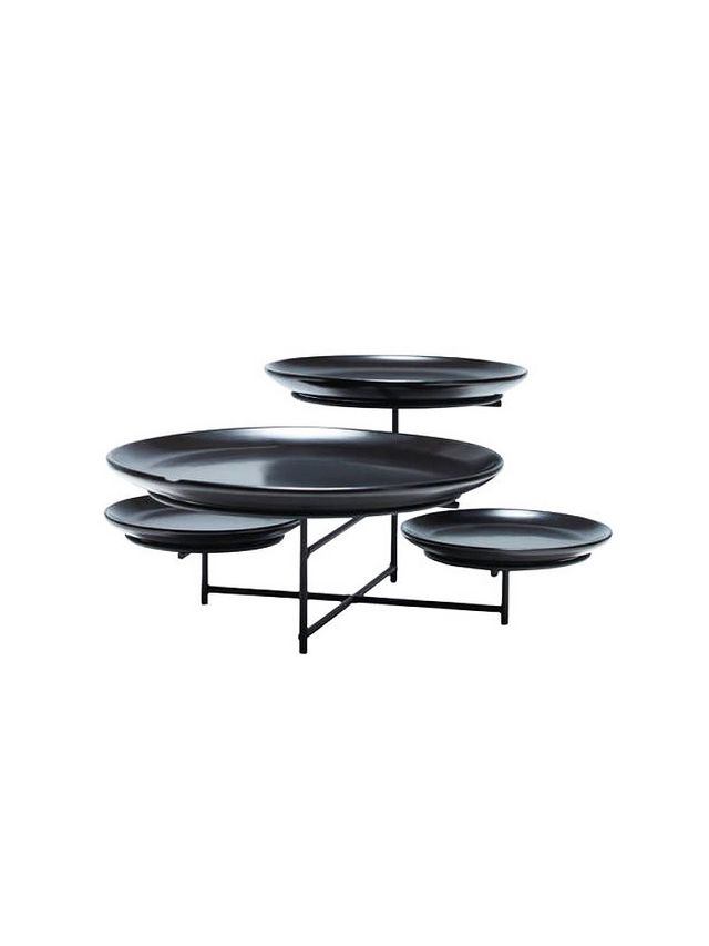 Salt & Pepper Black 4 Tier Skyline Platter